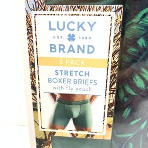 Lucky Brand Men Stretch Boxer Briefs 3 Pack Size L